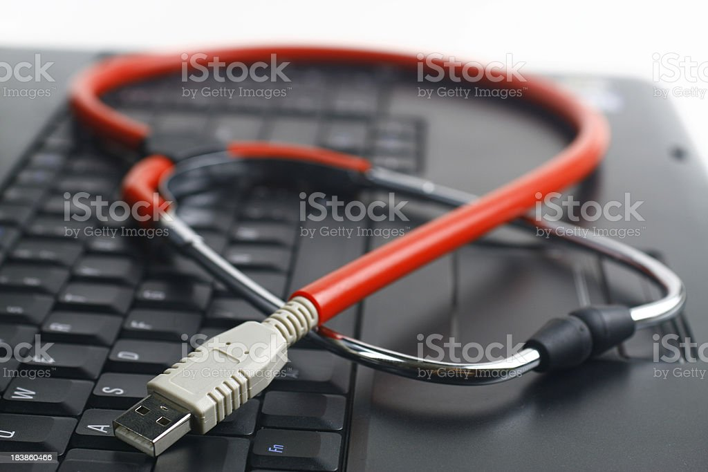 USB Stethoscope stock photo