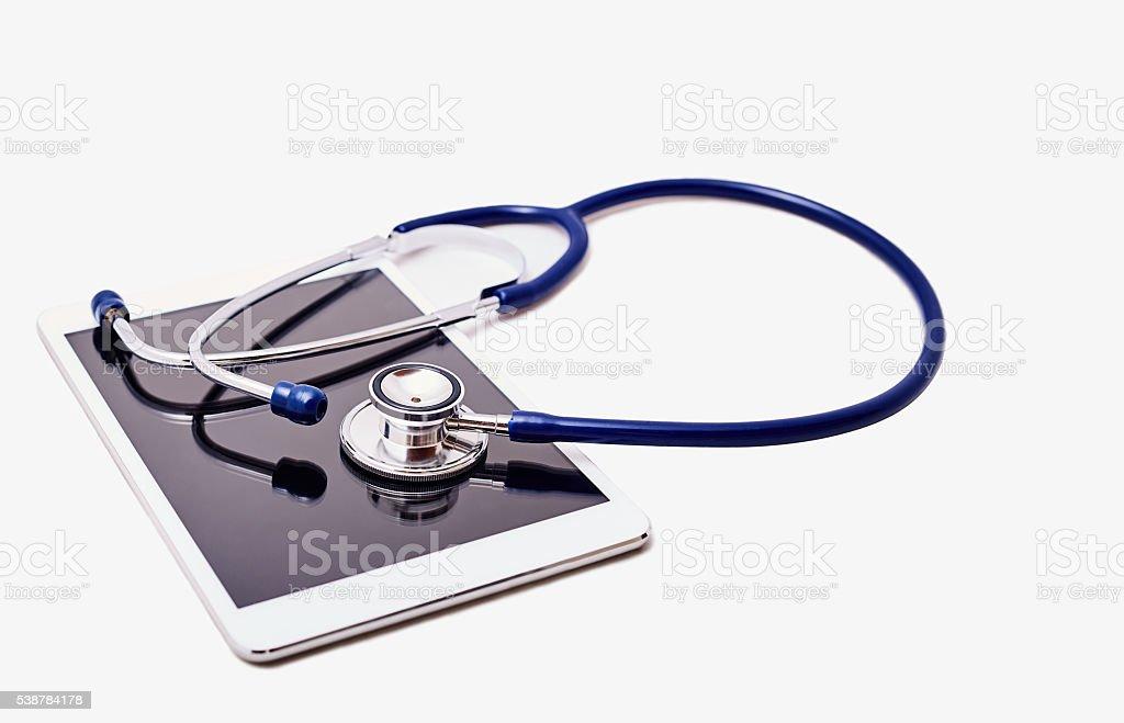 Stethoskop mit digital-Tablette – Foto