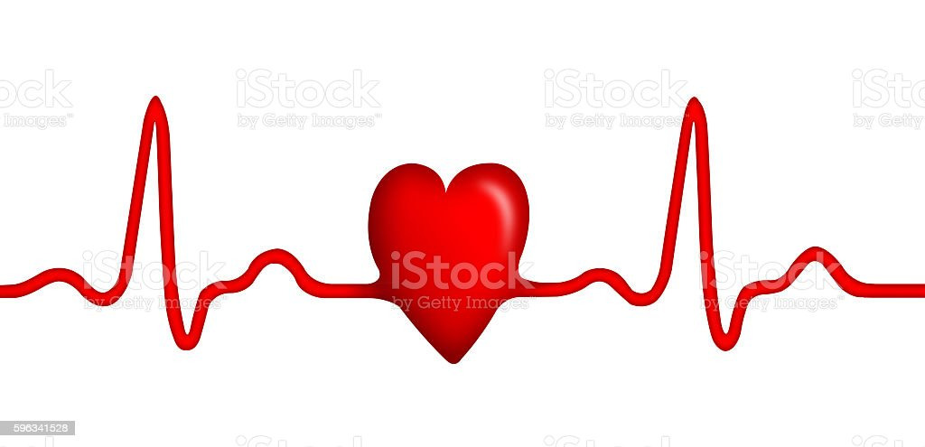Stethoscope with ECG graph and shape of heart royalty-free stock photo