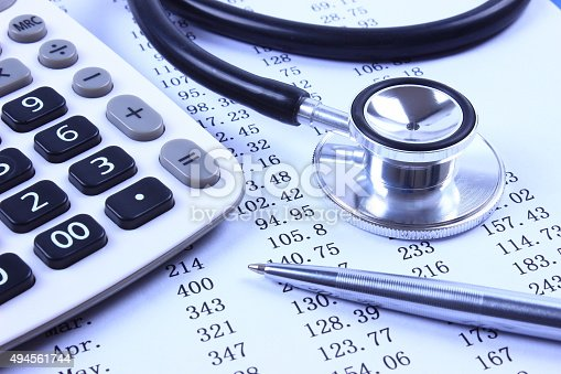 istock Stethoscope with financial statement 494561744