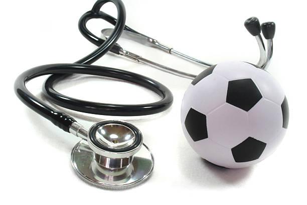 Stethoskop mit football – Foto