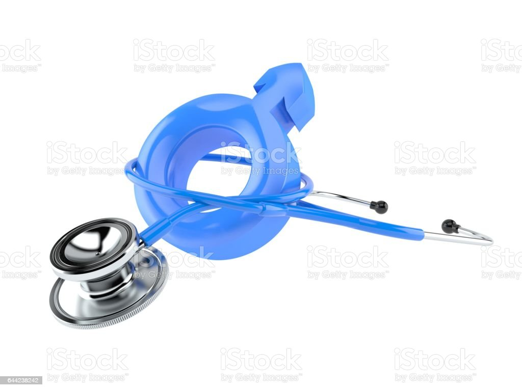 Stethoscope with male symbol stock photo