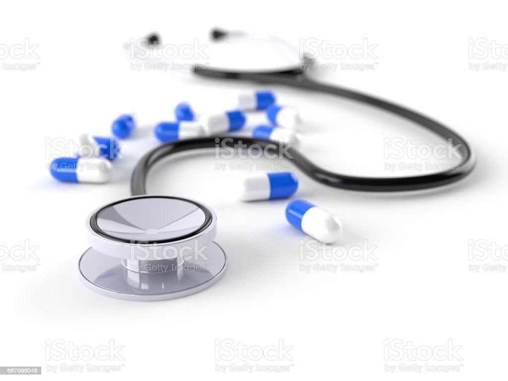 Stethoskop mit Details Lizenzfreies stock-foto