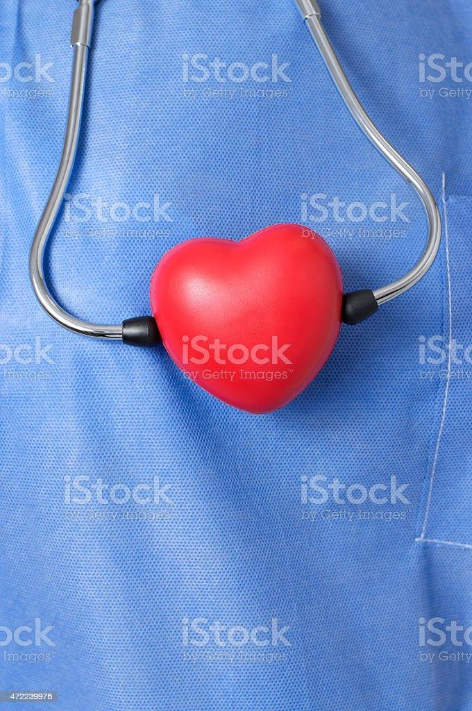 Stethoskop mit Rot heart shape – Foto