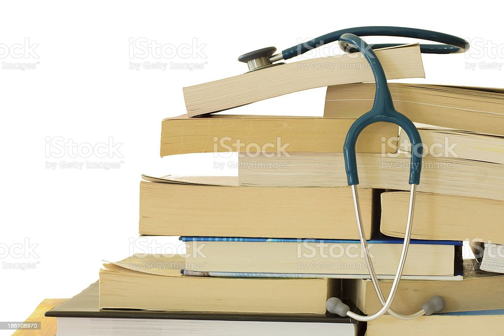 Stethoscope with Text Books stock photo