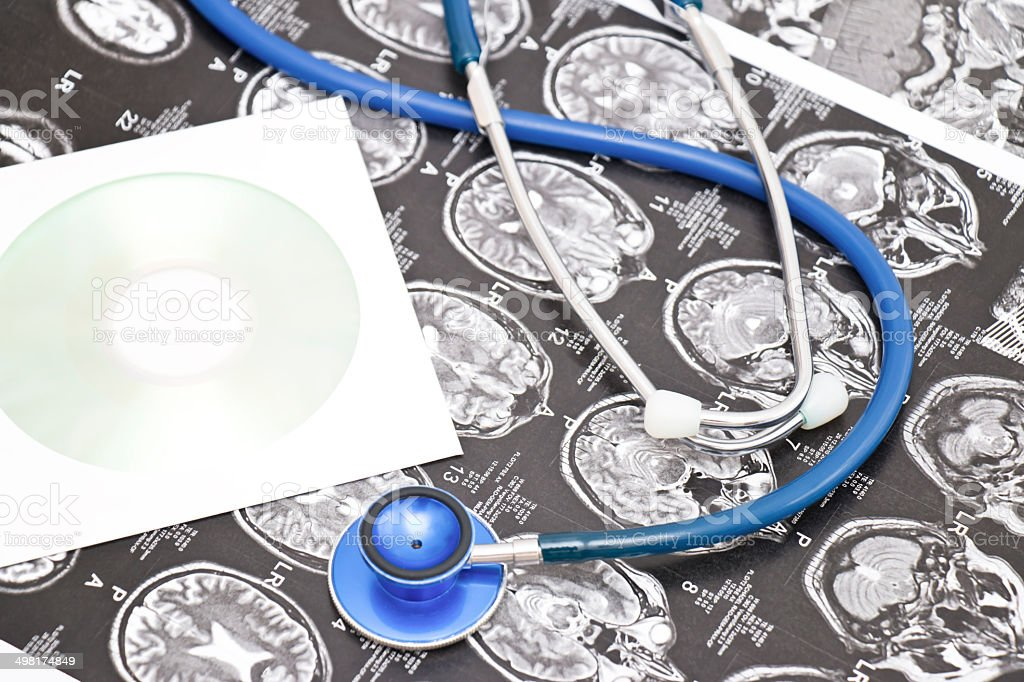 Stethoscope X-Ray and Data CD stock photo