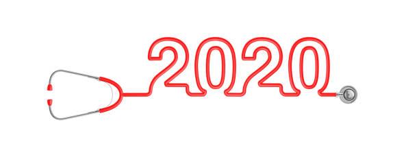 Stethoscope year 2020 stock photo