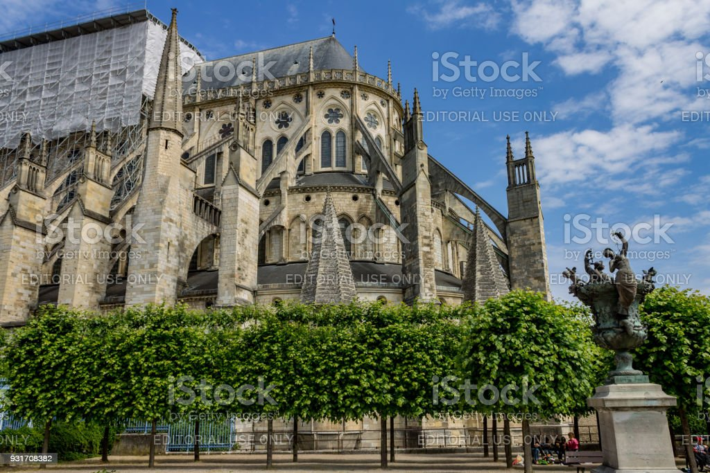 St-Etienne Cathedral Bourges France stock photo