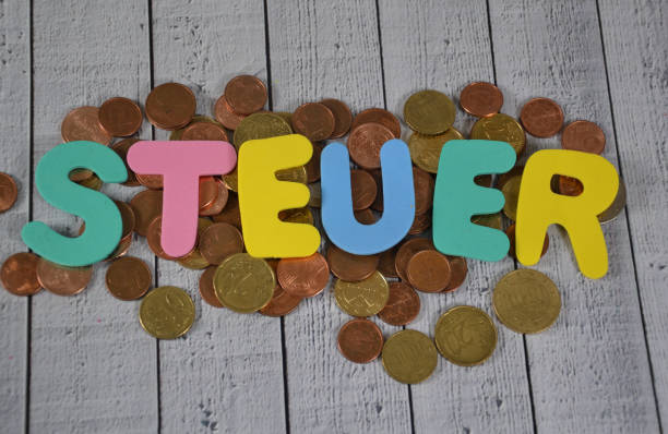 Steuer - the german word for tax stock photo