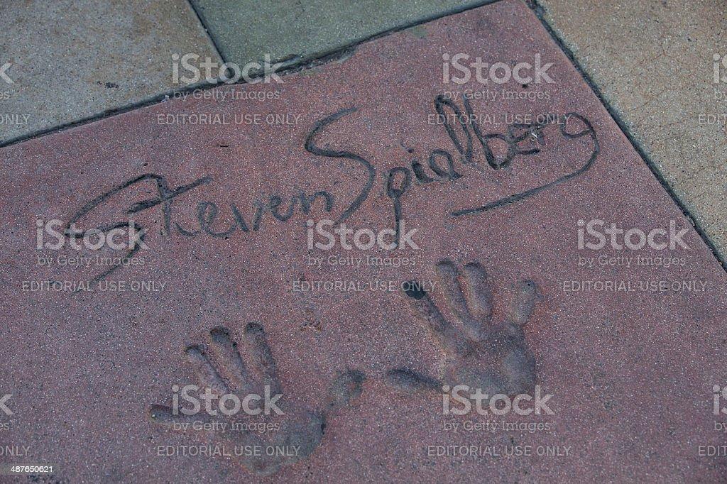 Steven Spielberg's autograph stock photo