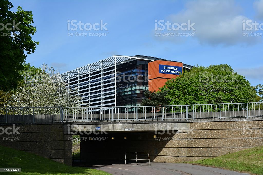 Stevenage Police Station Hertfordshire stock photo