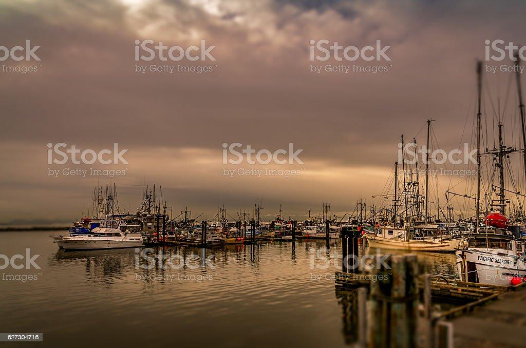 Steveston Fisherman's Wharf stock photo