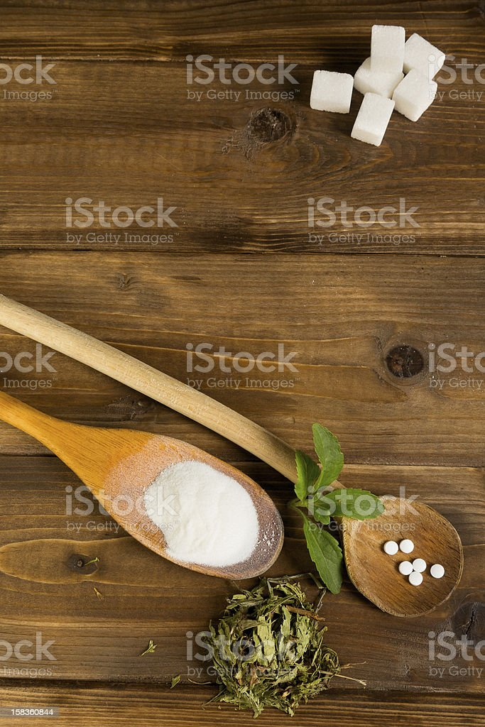 Stevia on a table stock photo