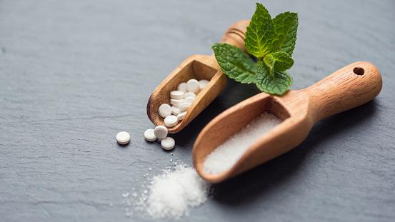 Stevia Zuckerersatz Stockfoto und mehr Bilder von Abnehmen