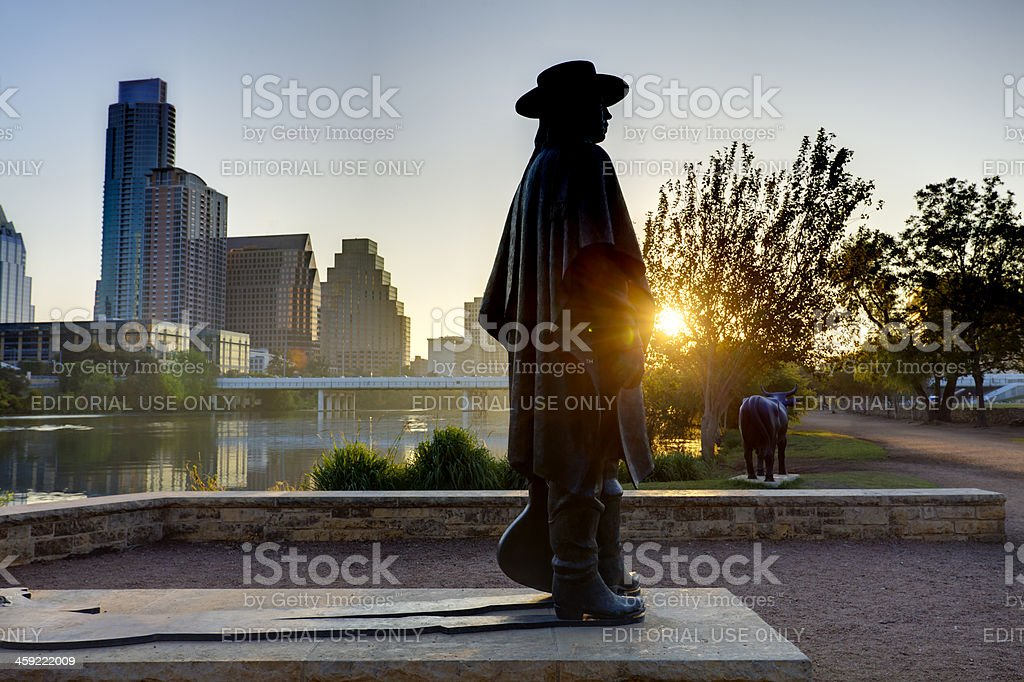 Stevie Ray Vaughan statue stock photo