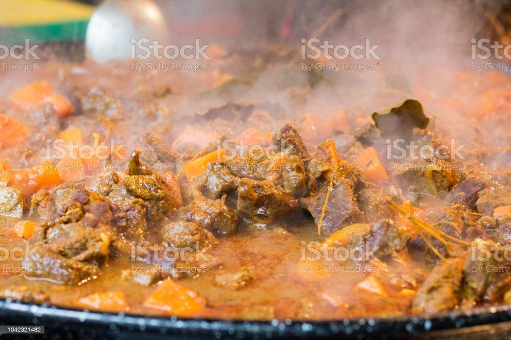 Stew in Borough Market, London stock photo