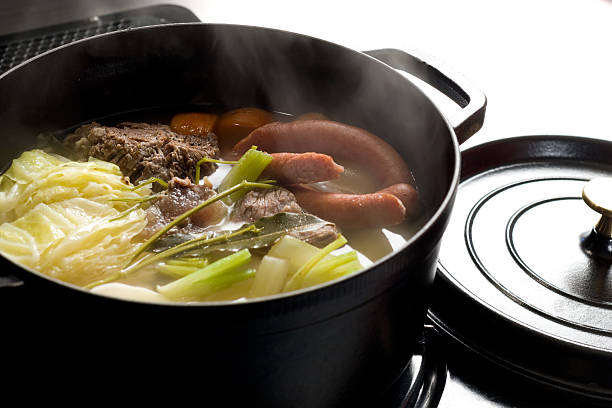 Pot-au-feu Heartwarming pot-au-feu pot au feu stock pictures, royalty-free photos & images