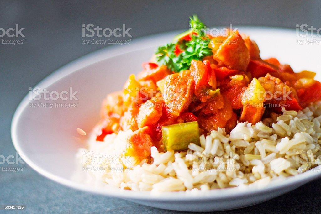 Stew with Tomato, Cucumber, Zucchini stock photo