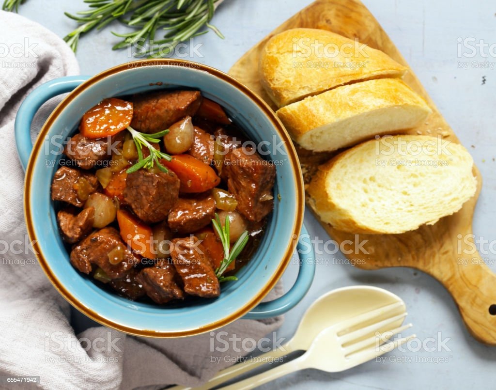 Stew with vegetables hotpot stock photo