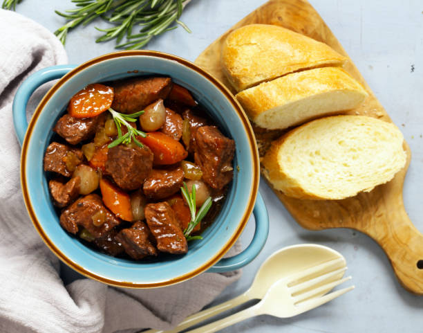 Stew with vegetables hotpot Stew with vegetables hotpot beef bourguignon stock pictures, royalty-free photos & images