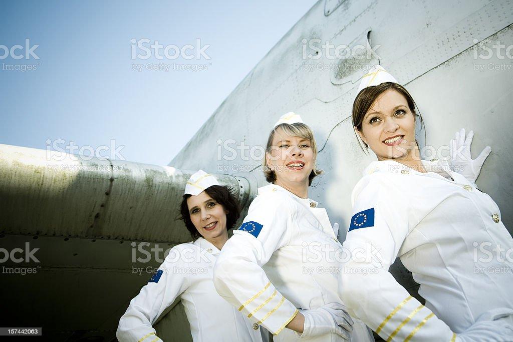 Stewardess team royalty-free stock photo