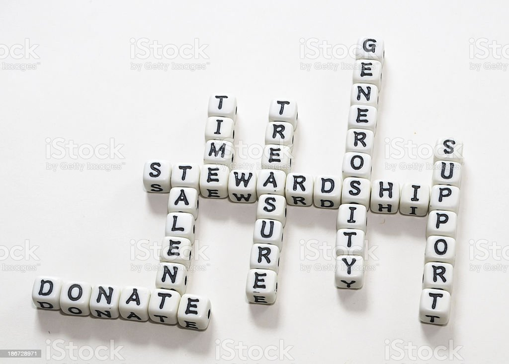 Stewardship Theme Puzzle royalty-free stock photo