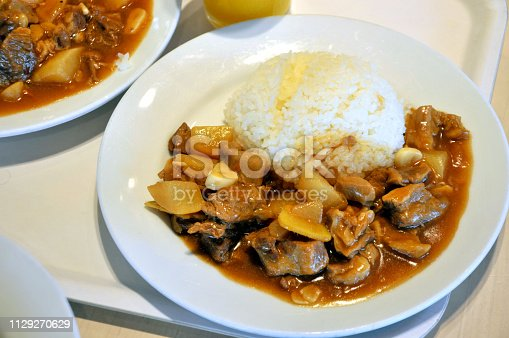 Stewed beef with radish and rice