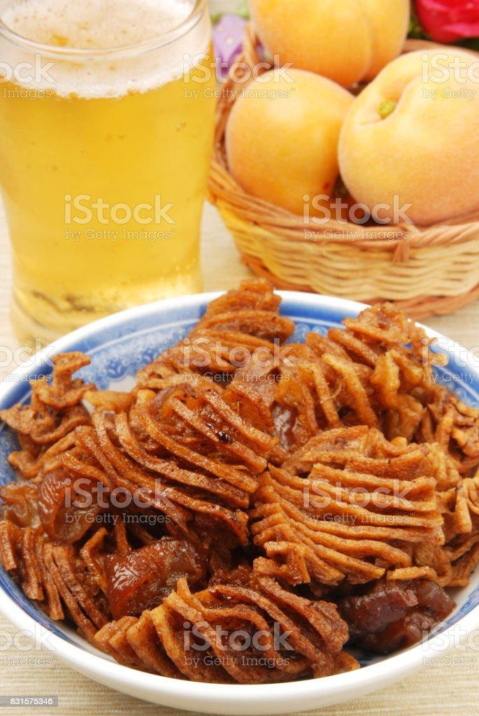 Stewed tofuskin stock photo