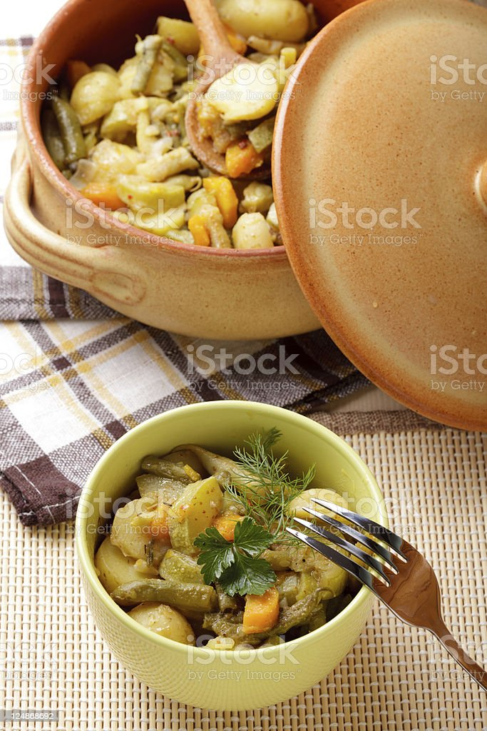 Stewed vegetables royalty-free stock photo