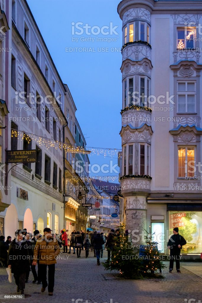 Steyr at Christmas, the Old Town - Austria stock photo
