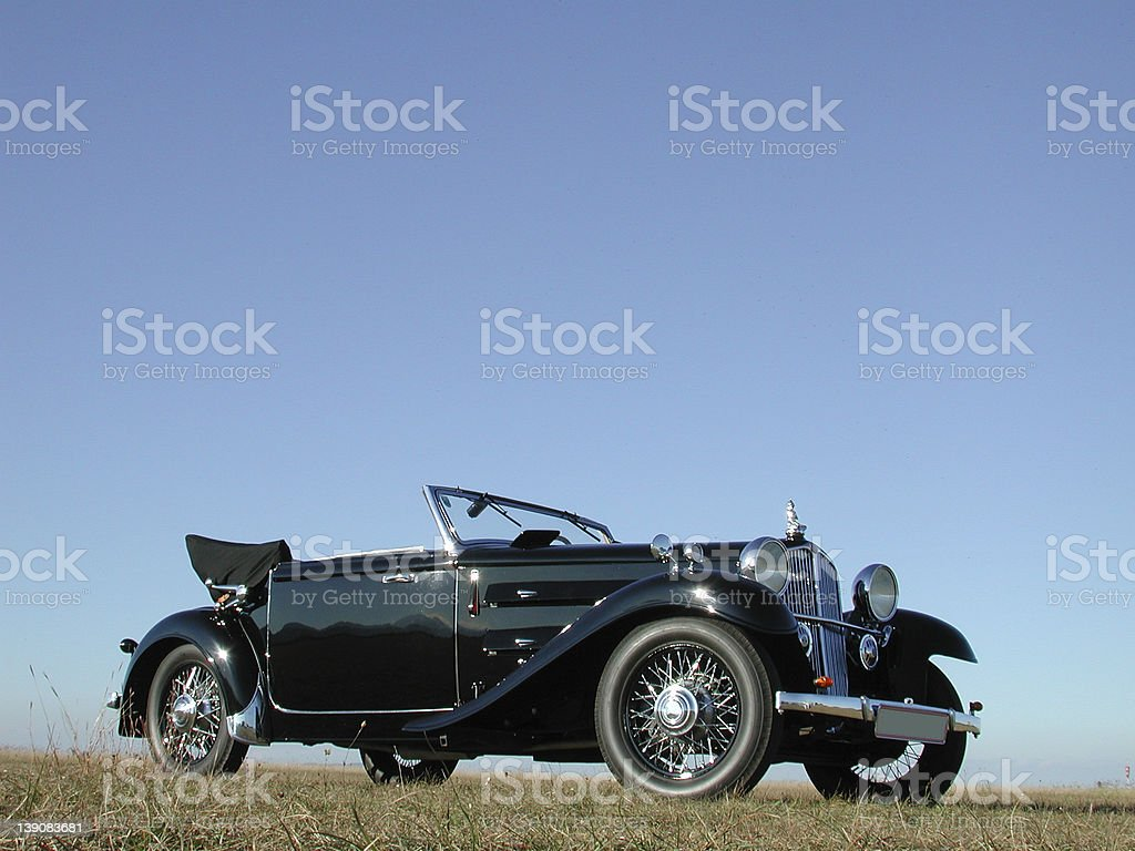 Steyr cabriolet 1933 total #1 stock photo