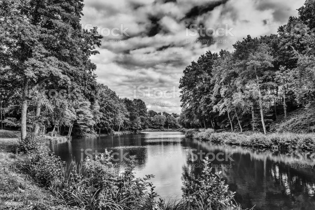 St-Fraimbault Pond stock photo