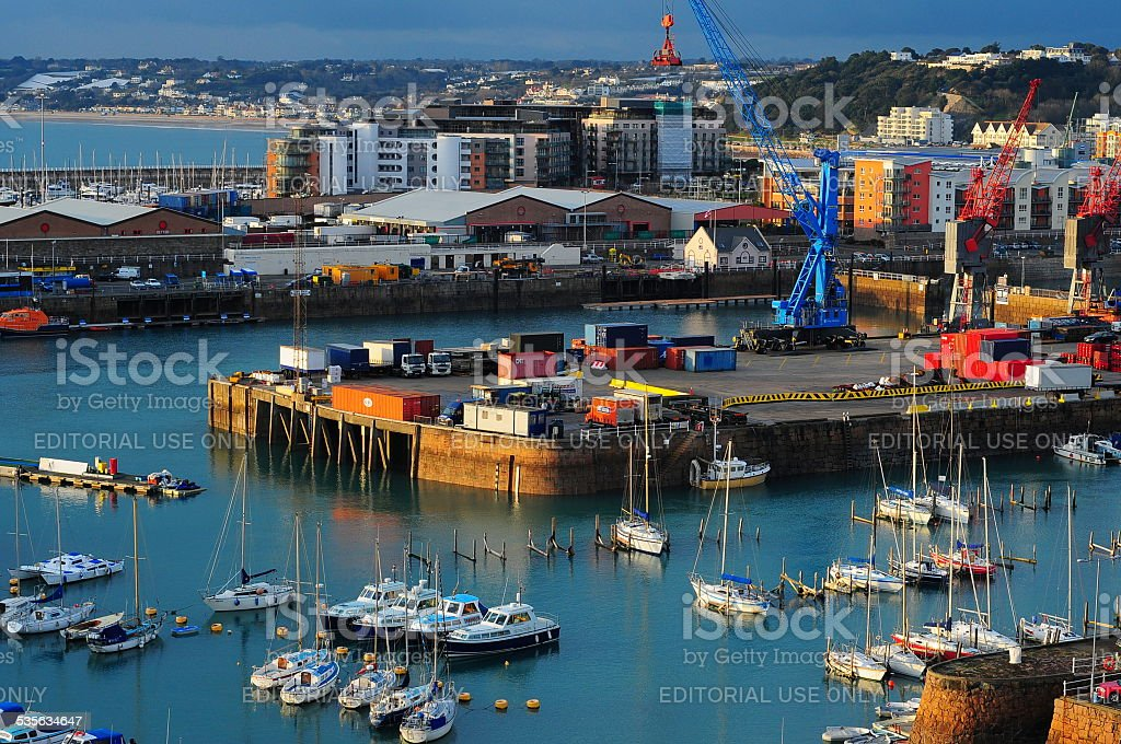 St.Helier harbour, Jersey, U.K. stock photo