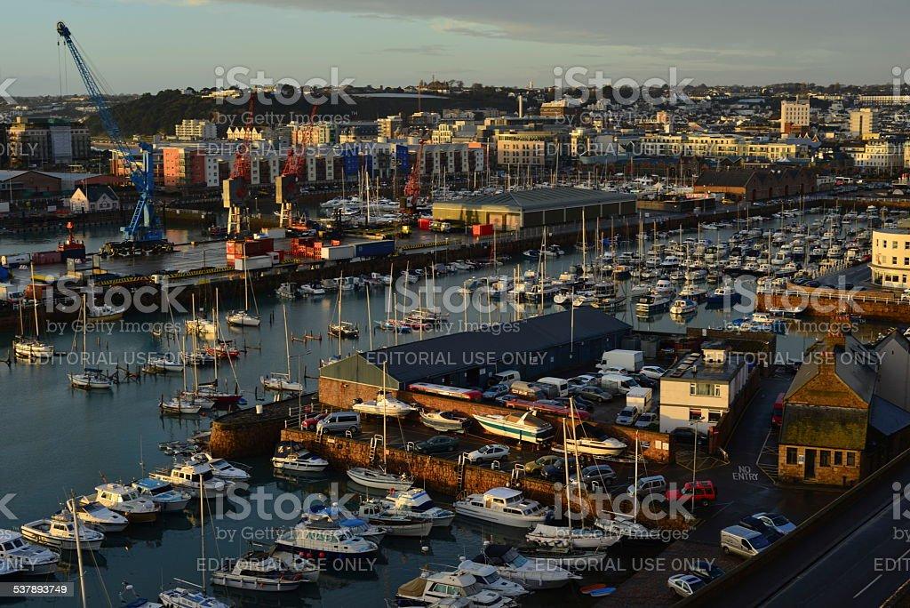 St.Helier harbour, Jersey, U.K. stock photo