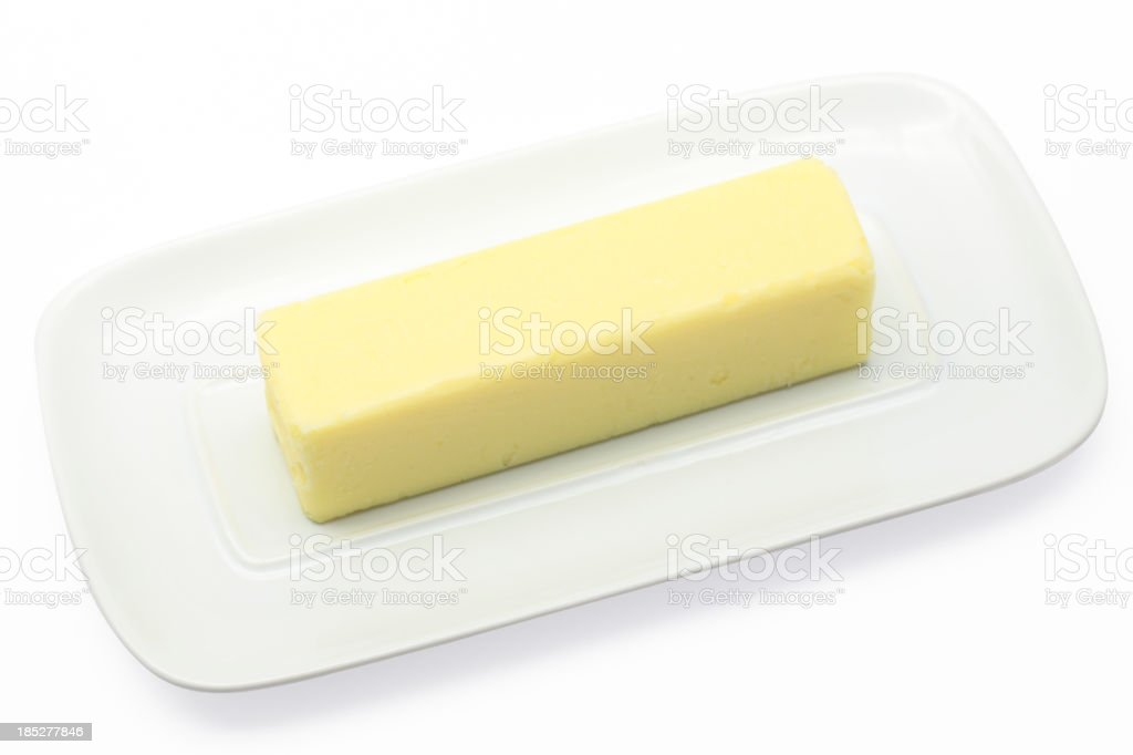 Stick of Butter (Path) stock photo
