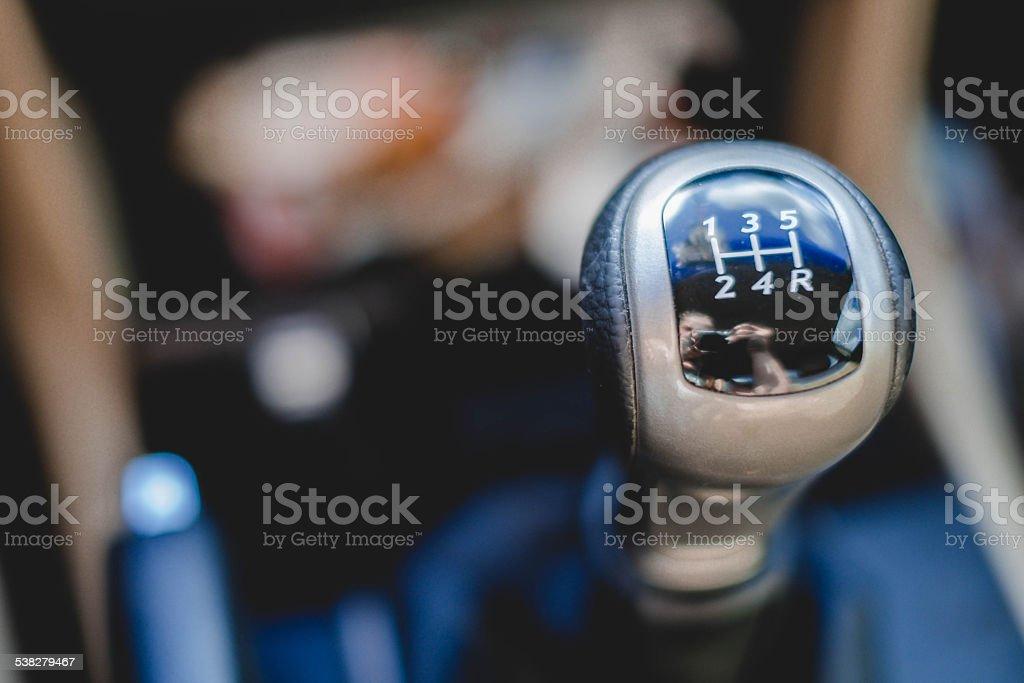 stick shift stock photo