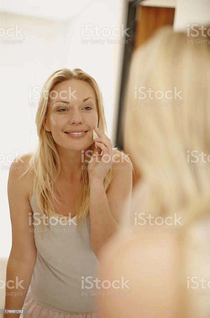 I stick to my beauty regime royalty-free stock photo