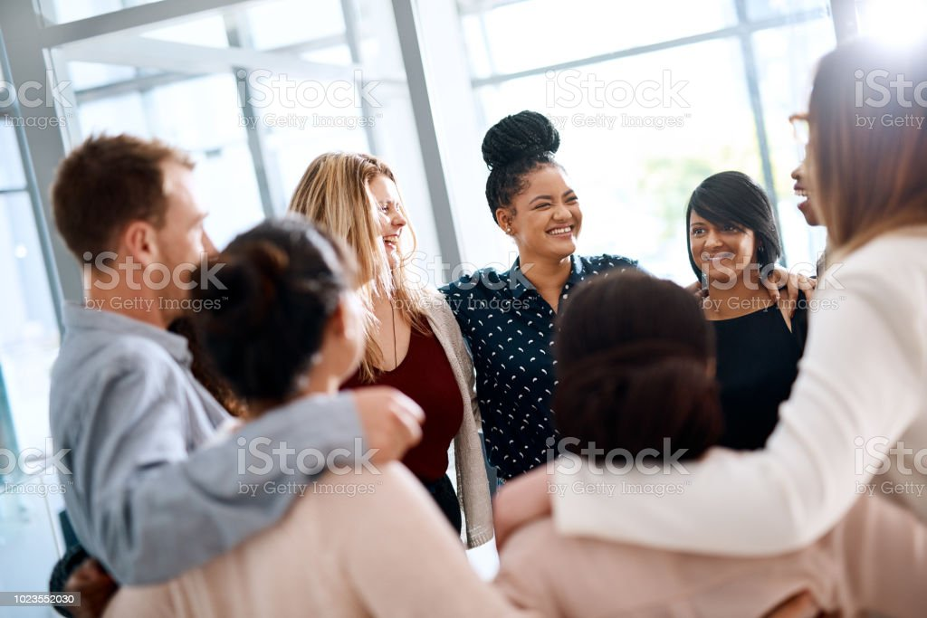 Stick together, grow a business together stock photo