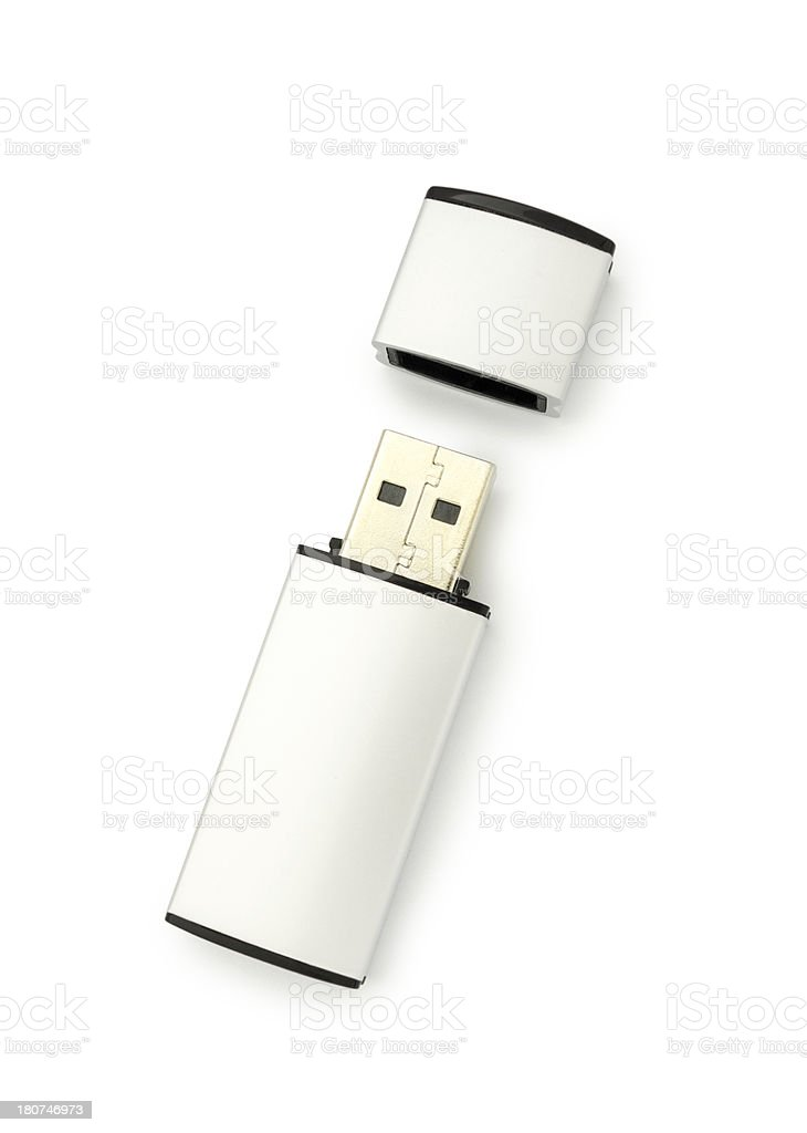 USB Stick with clipping path stock photo