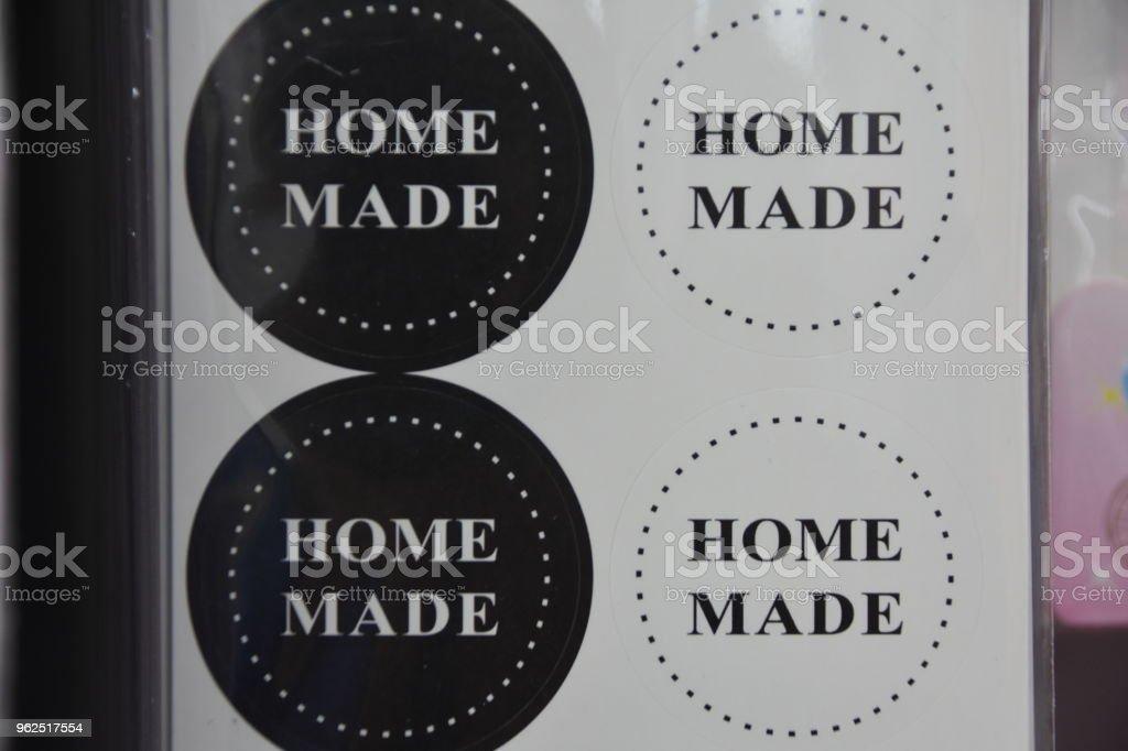 etiqueta feito em casa - Foto de stock de Arte e Artesanato - Assunto royalty-free