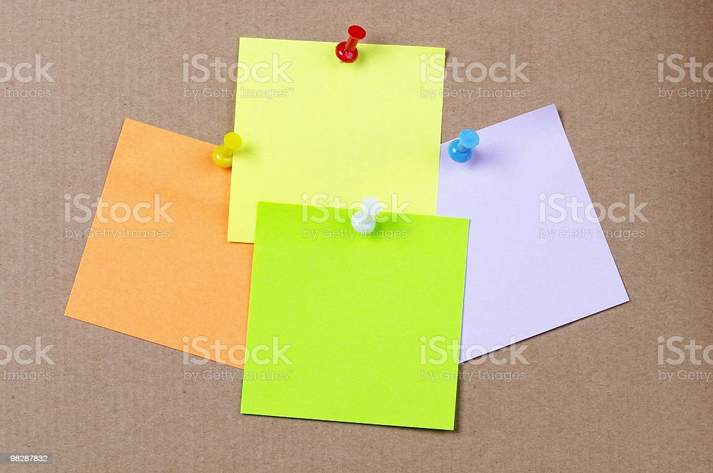 Sticker notes royalty-free stock photo