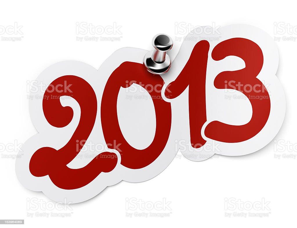 2013 sticker stock photo