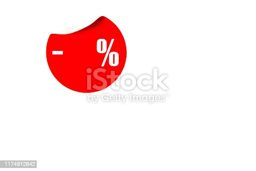 997496254 istock photo Sticker with place for discount. 1174912642
