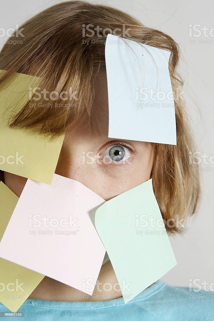 Aufkleber Mädchen Lizenzfreies stock-foto