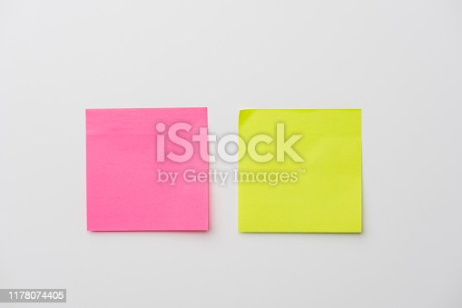 Adhesive Note, White Background, Note Pad, Yellow,