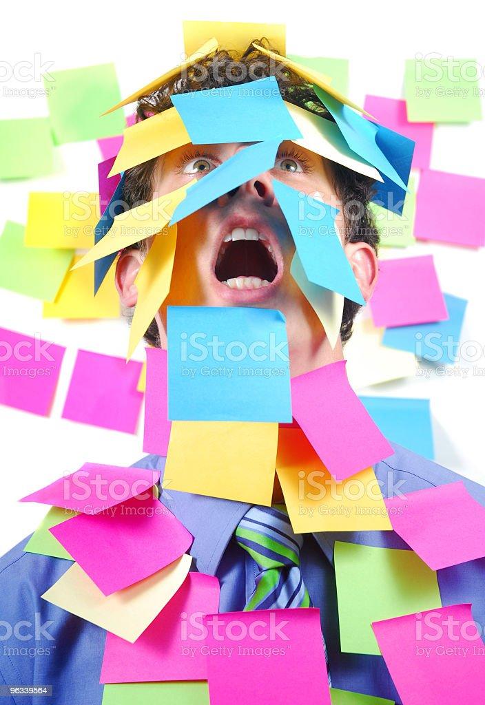 Stickies Biuro człowiek - Zbiór zdjęć royalty-free (Biuro)