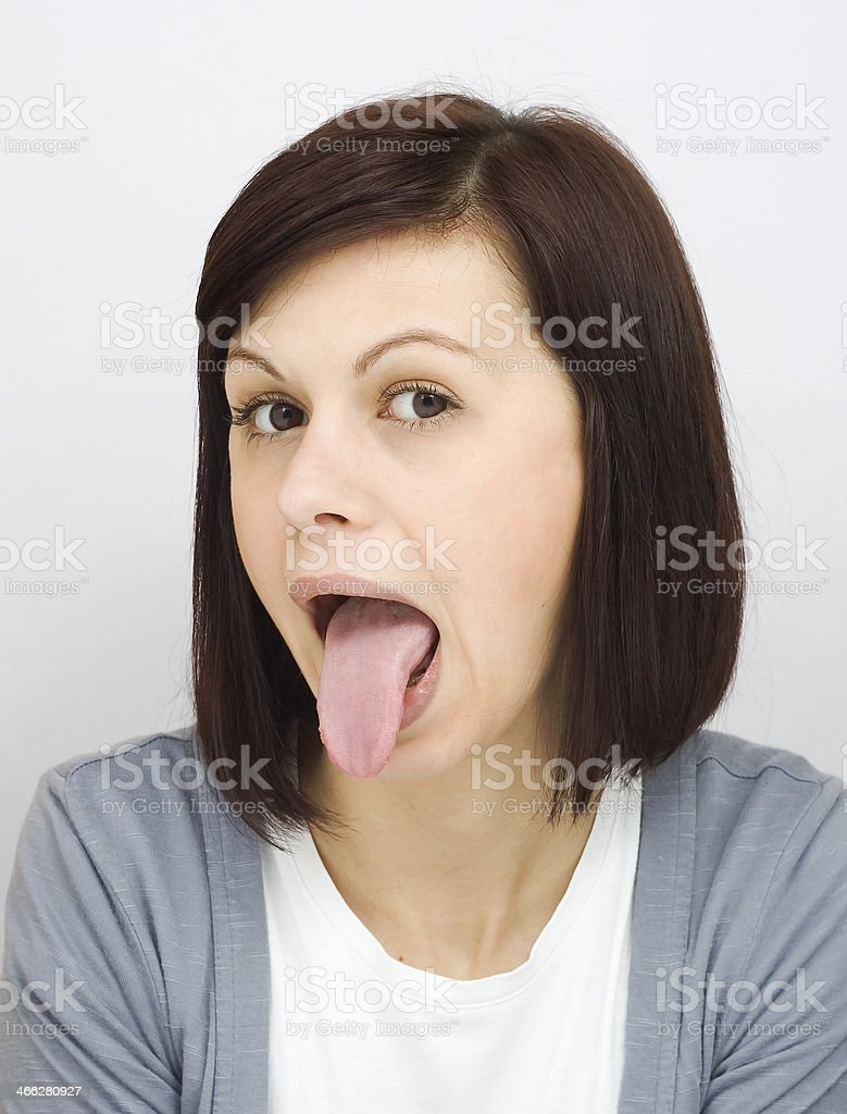 Sticking out tongue royalty-free stock photo