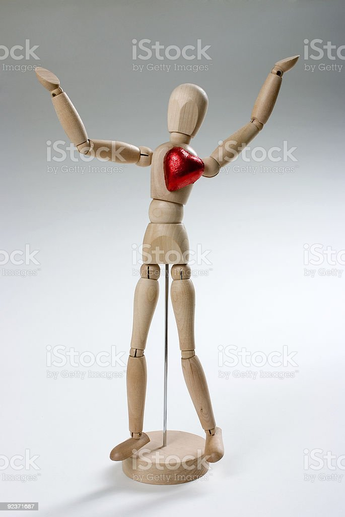 Stickman With Heart royalty-free stock photo