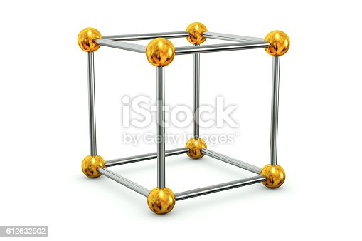 453066423 istock photo Sticks and beads Cube 612632502