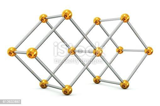 453066423 istock photo Sticks and beads Cube 612632892